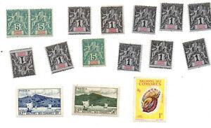 Lot-timbres-Grande-Comore-neufs
