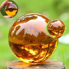 40mm Amber Asian RARE Natural Quartz Magic Crystal Healing Ball Sphere Stand