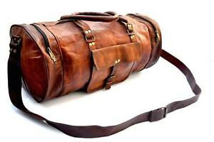 Bag-Leather-old-crafted-Travel-Duffle-Gym-Weekend-Overnight-Luggage-Holdall-Men