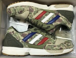 low priced cb71f 1bedd Image is loading Adidas-ZX-5000-UNDFTD-BAPE-Undefeated-Green-Camo-