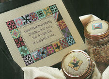 Amish Life Poem Cross Stitch Pattern from magazine Sampler Jar lids Quilts Xst