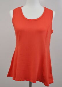 Isaac-Mizrahi-Live-Size-Small-Scoop-Neck-Seamed-Peplum-Knit-Tank-Top-Red-New
