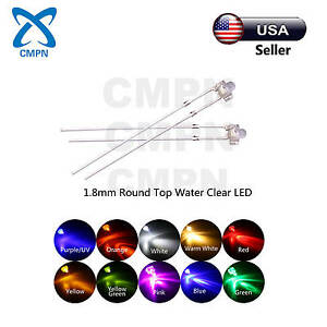 1.8mm 2mm 3mm 5mm 8mm 10mm LED White Red Blue Green UV RGB Light Emitting Diode