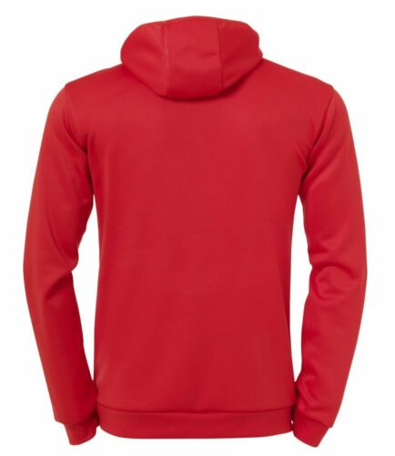 Details about  /Uhlsport Mens Sports Training Full Zip Hooded Jacket Track Top Red White