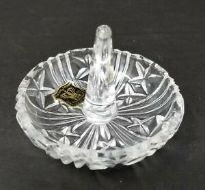 Vintage-Golden-Crown-E-amp-R-Western-Germany-Crystal-Ring-Holder