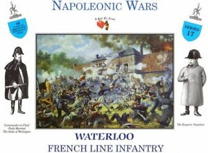 CALL-TO-ARMS-WATERLOO-FRENCH-LINE-INFANTRY-16-Unpainted-Figures-1-32-FREE-SHIP