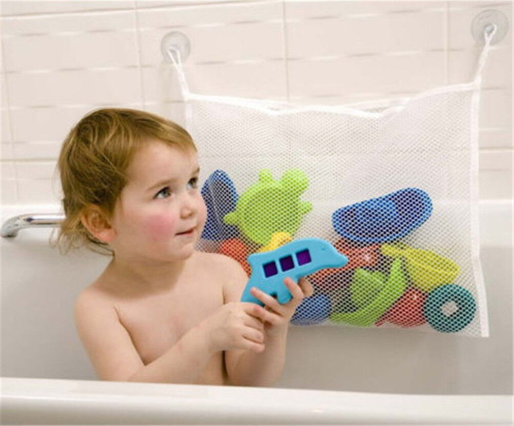 Baby Shower Toys Net Bathtub Bath Tub Organizer Bag Holder Storage Basket Jia6
