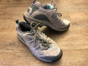 New Balance 646 Hiking Water Resistant Gray Blue Tan Shoes Women's Size 9