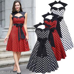 Femmes ann es 50 style vintage r tro soir e au foyer robe for Femme au foyer annees 50