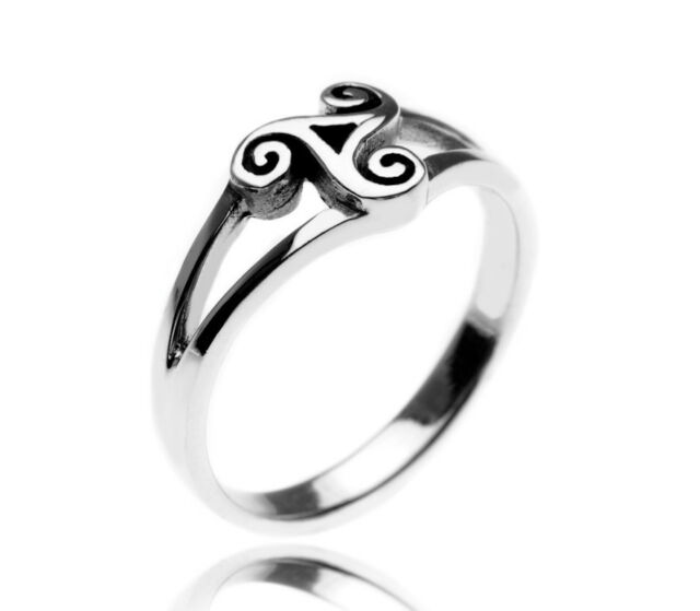 Celtic Ring Silver Ring Triskele Ring Silver Triskele Ring