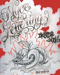 Nyce lettering sketch book tattoo flash book 198 pages lettering image is loading nyce lettering sketch book tattoo flash book 198 altavistaventures Image collections