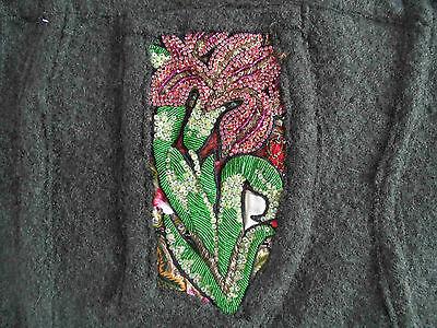 VERGISSMEINNICHT schöner großer Shopper Tasche Wolle m. Pailetten ZC3