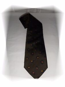 fadb1e8e489d Chargement de l image en cours Cravate-Fantaisie-Marron-Kaki-Motif-Fleurs- Kenzo-Homme