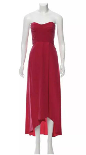 Fuchsia Pink Zimmerman Strapless Silk Maxi Dress S