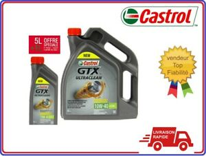Huile-moteur-voiture-CASTROL-Ultraclean-Synthetique-10W40-5-litres-1-litre-Auto