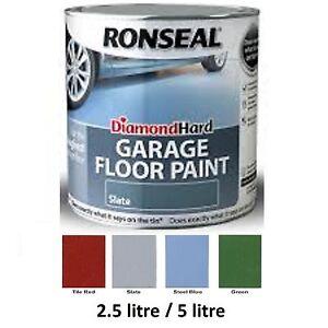 Details About Ronseal Diamond Hard Garage Floor Paint 2 5 Litre 5 Litre All Colours 5l 2 5l