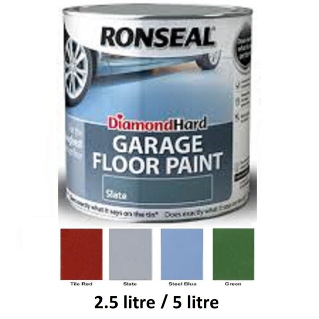 Ronseal Diamond Hard Garage Floor Paint Slate 2 5 Litre