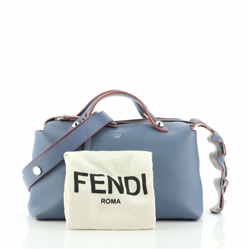 Fendi By The Way Satchel Leather with Studs Small  | eBay