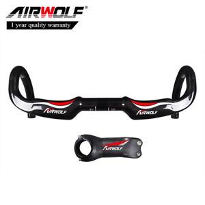 Toray-carbon-fiber-racing-bike-handlebar-road-bicycle-stem-31-8-400-420-440mm