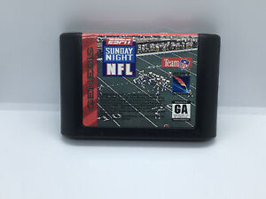 ESPN Sunday Night NFL (Sega Genesis, 1994) Loose Great Condition Fast Shipping