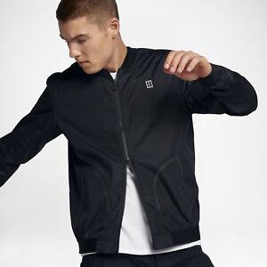 6a36b295871e Mens NikeCourt Bomber Tennis Jacket Sz S Black 894858-010 FREE ...