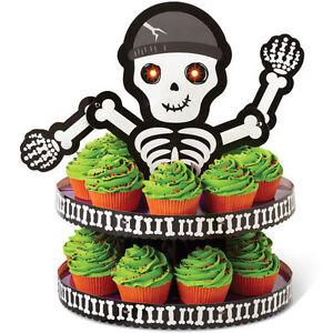 Hallowen Skeleton LED Eyes Cupcake Dessert Treat Stand from Wilton #0858 - NEW
