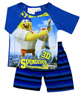 f065f2274 NEW SIZE 2~8 BOYS PYJAMAS PJ SPONGEBOB PJS SLEEPWEAR SHIRT SUMMER ...