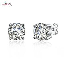 b2fa59d0d item 4 925 Sterling Silver Simulated 2 Carat Solitaire Diamond Round Stud  Earrings 4mm -925 Sterling Silver Simulated 2 Carat Solitaire Diamond Round  Stud ...