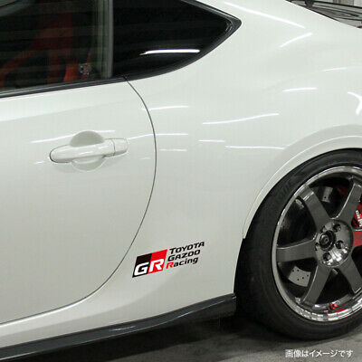 NEW TOYOTA GAZOO Racing Cutting sticker White GR17A019 from Japan F//S