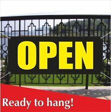 Open Banner Vinyl Mesh Banner Sign Restaurant Shop Store Cloths Grand Opening