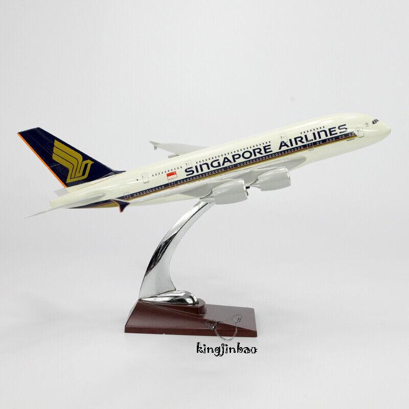 Escala 1 200 Singapore Airlines A380 avión De Resina Diecast modelo avión Toys 36cm