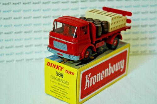 Camion réédition DINKY TOYS atlas 588 Plateau Brasseur GAK Berliet Kronembourg