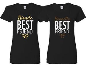 Blonde best friend and brunette best friend shirts