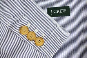 J-Crew-White-Blue-Seersucker-100-Cotton-Sport-Coat-Jacket-Sz-L-MINT