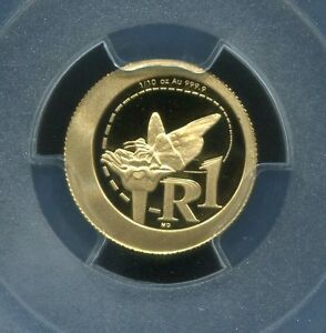 PCGS-Secure-South-Africa-2012-R1-Monarch-Butterfly-PR69dcam-Gold-Coin-Free-Ship