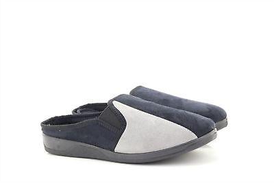 Clothing, Shoes & Accessories Competent Uomo Dave Nero Grigio Doppio Rinforzo Camoscio Schiuma Memory Suola Ciabatte Men's Shoes