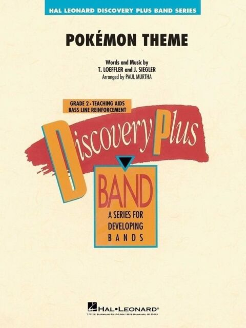 POKEMON THEME - Hal Leonard Discovery Plus Band Series Score Book *NEW* Music