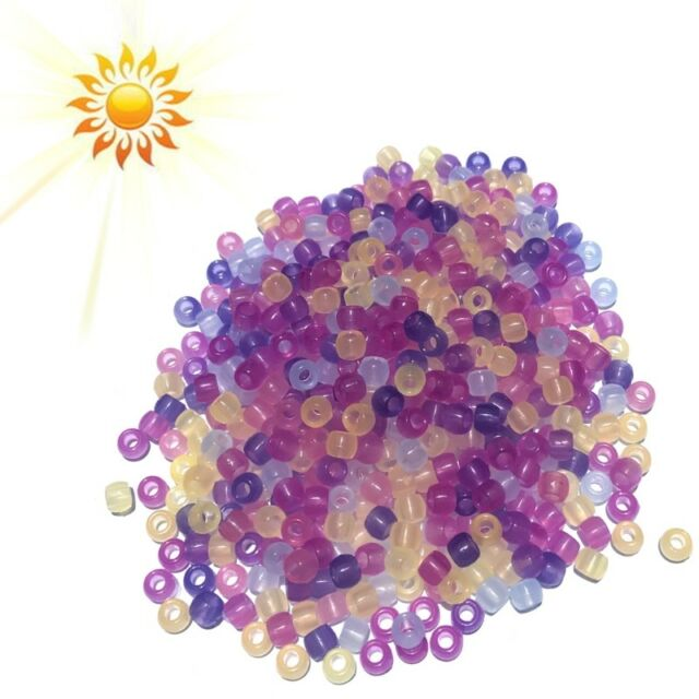 UV Multi Color changing USA Pony Beads for school science project crafts