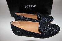 J.crew Size 6 Women's Navy Glitter Patent Trim Addie Loafer Shoe