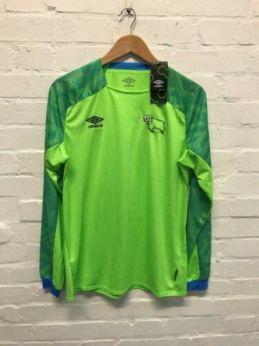 M S Green Derby County Umbro Men/'s 2017-18 Goalkeeper Shirt New
