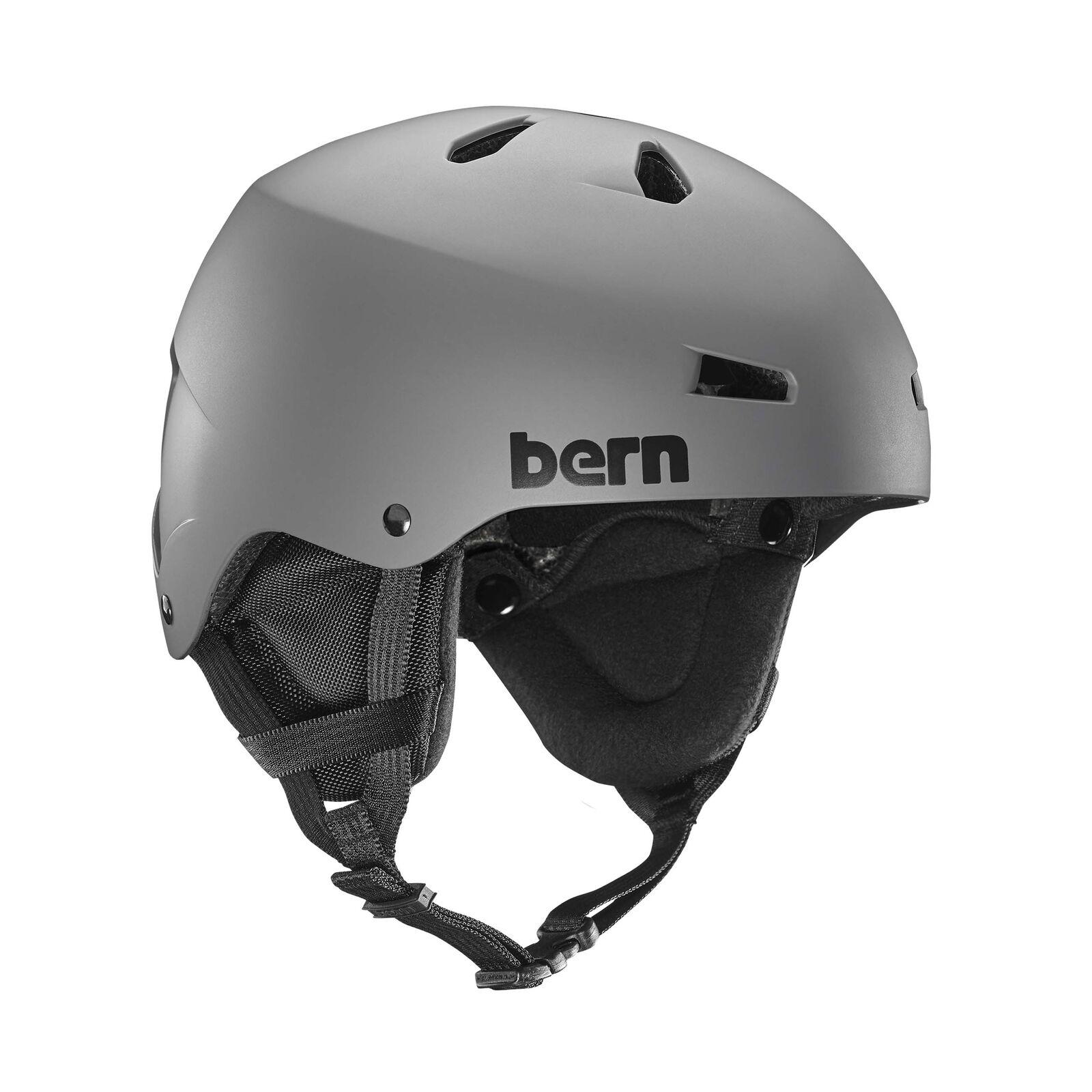 Bern Mens Team Macon Ski Snow Helmet Matte Grey