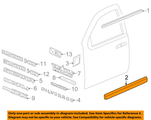 GM OEM FRONT DOOR-Body Side Molding Right 20816962