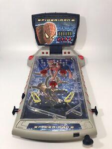 Retro Marvel Spiderman 2 Table Top Pinball Machine 2004 (Tested)