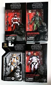 "Star Wars Black Series Exclusive CLONE COMMANDER GREE FOX WOLFFE & CODY 6"" 15cm"