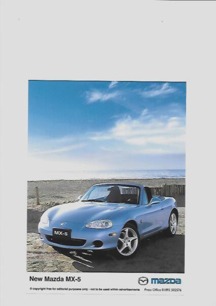 """""""nuovo"""" Mazda Mx5 Originale Press Photo """"brochure"""" Correlati"""