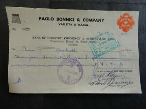 BICAL BANK CHEQUE WITH 2d REVENUE STAMP NO 28