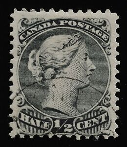 Large Queen #21ii  with 'line above P' variety Horizontal mesh, light cancel
