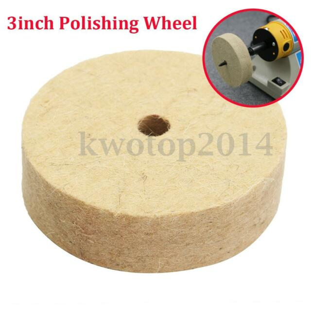 3'' inch Felt Polishing Wheel 10mm x 80mm x 22mm Felt Wool Buffing Polishers Pad