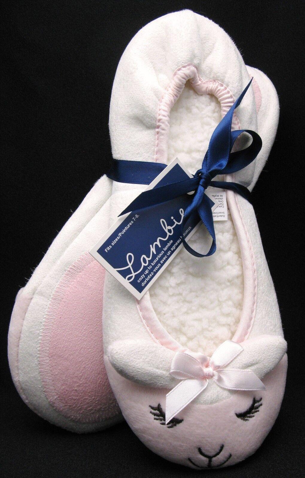 Bath & Body Works LAMBIE Ballerina Ballet Slippers 7-8 Small Medium New w Tag