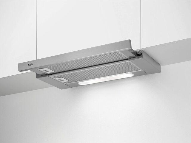 AEG DPB5652M Flachschirm-Dunstabzugshaube / Abluft oder Umluft / 60cm, A